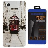 Cepsesuar General Mobile Discovery Kılıf Silikon Tramvay + Cam