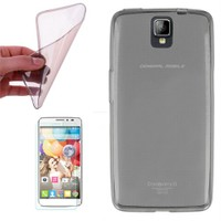 Cep Market General Mobile Discovery 2 Kılıf 0.2Mm Antrasit Silikon - Cam
