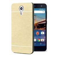 Microsonic General Mobile Android One 4G Kılıf Hybrid Metal Gold