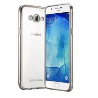 Microsonic Samsung Galaxy A8 Kılıf Flexi Delux Gümüş