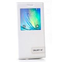 Cep Market Samsung Galaxy A7 Kılıf Pencereli Safir