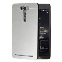 Microsonic Asus Zenfone 2 Laser 5.5 İnch Kılıf Hybrid Metal Gümüş
