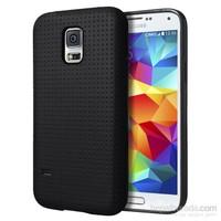 Microsonic Dot Style Silikon Samsung Galaxy S5 Kılıf Siyah
