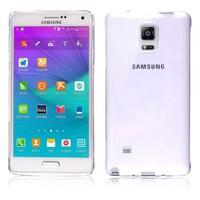 Microsonic Transparent Soft Samsung Galaxy Note 4 Kılıf Beyaz