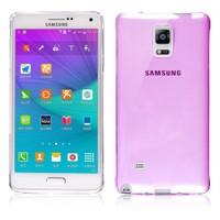 Microsonic Transparent Soft Samsung Galaxy Note 4 Kılıf Pembe