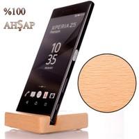 Sony Xperia C4 Ahşap Stand Basic Dizayn El Yapım