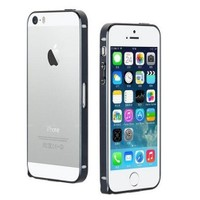 Microsonic İphone 5 & 5S Ultra Thin Metal Bumper Kılıf Siyah