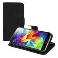 Microsonic Cüzdanlı Standlı Deri Kılıf - Samsung Galaxy S5 Siyah