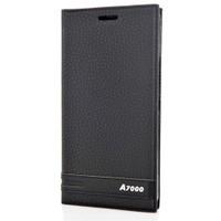 CoverZone Lenovo A7000 Kılıf Kapaklı Safir Siyah