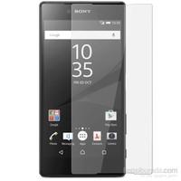 CoverZone Sony Xperia Z5 Compact Temperli Ön Yüzey Ekran Koruyucu Filmi