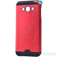 Case 4U Samsung Galaxy E5 Moto Sert Arka Kapak Kırmızı