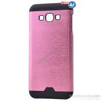 Case 4U Samsung Galaxy A8 Moto Sert Arka Kapak Pembe