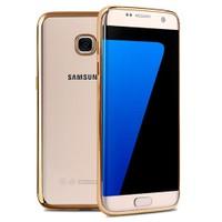 Microsonic Samsung Galaxy S7 Edge Kılıf Flexi Delux Gold