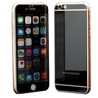 Microsonic İphone 6S Plus Mirror Temperli Cam Ekran Koruyucu Ön + Arka Siyah