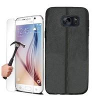 Kılıfshop Samsung Galaxy S7 Silikon Kılıf Dikiş Desenli / Ekran Koruyucu