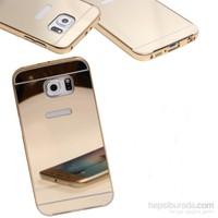 KılıfShop Samsung Galaxy S7 Edge Aynalı Lüks Metal Bumper Kılıf