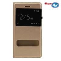 Case 4U Apple İphone 6S Plus Pencereli Kapaklı Kılıf Altın