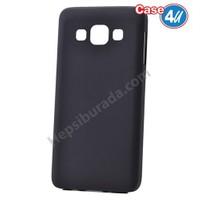 Case 4U Samsung Galaxy A3 Ultra İnce Silikon Kılıf Siyah