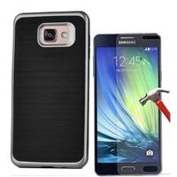 Kılıfshop Samsung Galaxy A5 Motomo Metal Kılıf (Gri) + Ekran Koruyucu
