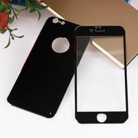Bufalo Apple iPhone 6 Plus Metal Kenarlı Siyah Ön Arka Cam Ekran Koruyucu