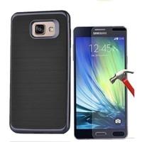 Kılıfshop Samsung Galaxy A3 2016 Infinity Motomo Kılıf (Siyah) + Ekran Koruyucu