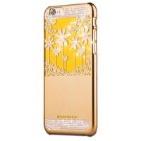 Joyroom Flower iPhone 6 Plus-6S Plus Taşlı Gold Rubber Kılıf