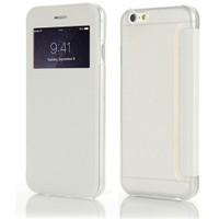 Microsonic Apple İphone 6S View Cover Delux Kapaklı Beyaz Kılıf