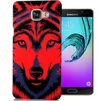Cover Me Samsung Galaxy A3 2016 Kılıf A310 Resimli Kapak Kırmızı Kurt