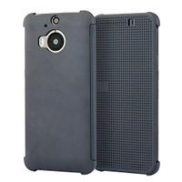 Microsonic Htc One M9+ Plus View Cover Dot Kapaklı Akıllı Modlu Gri
