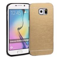 Microsonic Samsung Galaxy S6 Edge+ Plus Kılıf Hybrid Metal Gold