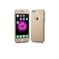 Ksp Apple iPhone 6/6S Kılıf 360 Derece Tam Koruma Gold