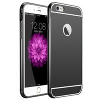 Kılıfshop Apple İphone 6S Aynalı Lüks Metal Bumper Kılıf