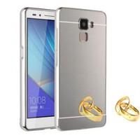 Teleplus Turk Telekom Honor 7 Aynalı Metal Kapak Kılıf Gümüş