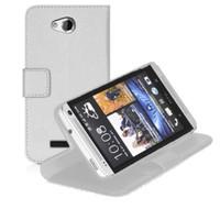 Microsonic Cüzdanlı Standlı Deri Htc Desire 616 Kılıf Beyaz