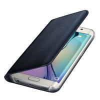 Microsonic Flip Leather Samsung Galaxy S6 Edge Kapaklı Deri Kılıf Siyah