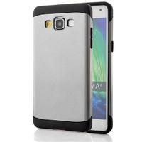 CoverZone Samsung Galaxy A7 Kılıf Çift Katmanlı Slim Armor Gri