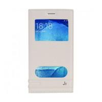 Lopard Samsung Galaxy J5 Kılıf Kapaklı Pencereli Ellite Case Deri Beyaz
