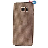 Case 4U Samsung Galaxy Note 5 Hasır Desenli Ultra İnce Silikon Kılıf Altın