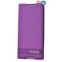 Case 4U Sony Xperia Z5 Premium Gizli Mıknatıslı Kapaklı Kılıf Mor