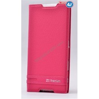 Case 4U Sony Xperia Z5 Premium Gizli Mıknatıslı Kapaklı Kılıf Pembe