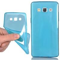 CoverZone Samsung Galaxy A5 Kılıf Ultra İnce Silikon 0.2 Mm Mavi