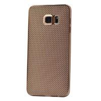 Kılıfshop Samsung Galaxy Note 5 Hasır Desenli Silikon Kılıf (Gold) + Ekran Koruyucu