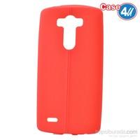 Case 4U Lg G3 Desenli Silikon Kılıf Kırmızı