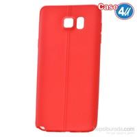 Case 4U Samsung Galaxy Note 5 Desenli Silikon Kılıf Kırmızı