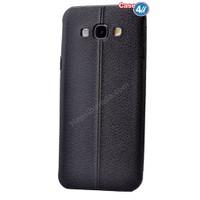 Case 4U Samsung J3 Parlak Desenli Silikon Kılıf Siyah