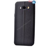 Case 4U Samsung On 7 Parlak Desenli Silikon Kılıf Siyah