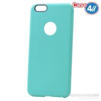 Case 4U Apple İphone 6 Çizgili Silikon Kılıf Yeşil