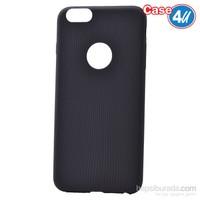 Case 4U Apple İphone 6 Çizgili Silikon Kılıf Siyah