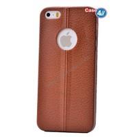 Case 4U Apple İphone 5S Parlak Desenli Silikon Kılıf Kahverengi