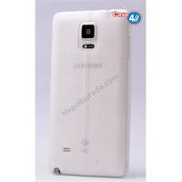 Case 4U Samsung Galaxy Note 4 Parlak Desenli Silikon Kılıf Beyaz